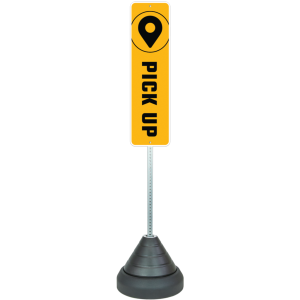 Curbside Pickup Sign Base Systems